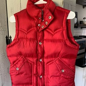 True Religion Red Puffy Vest size S